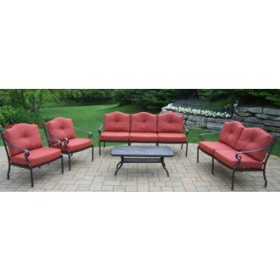 Berkley Aluminum Deep Seat 5 Piece Chat set - 7823CT-7820C2-7821L-7822SF-080-5-MC
