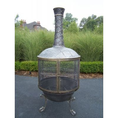 Heavy Duty Tower Feast Chimenea - 8019-AP