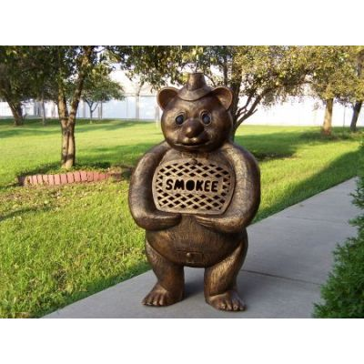 Smokee Bear Cast Aluminum Chimenea Sculpture - 8028-AB