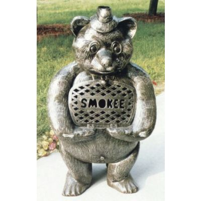 Smokee Bear Cast Aluminum Chimenea Sculpture - 8028-AP