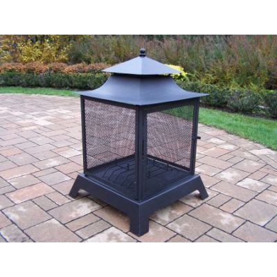 Full Sides View Fire Pit - 8119-BK