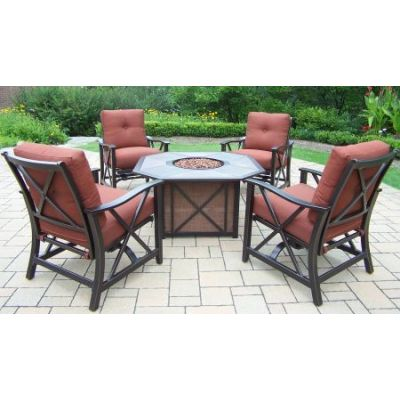 Haywood Deep Seating 5 Piece Chat set - 8201GST-8202RC4-5-AB