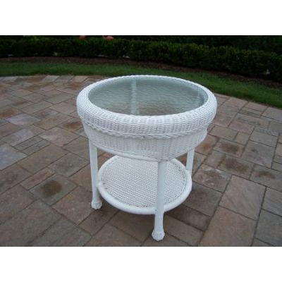 21-inch Resin Wicker End Table - 90027-ET-WT