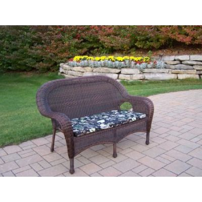 Resin Wicker Loveseat with Cushion - 90027-L-BF-CF
