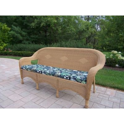 Resin Wicker 3 Seated Sofa with Cushion - 90028-2-10-HN