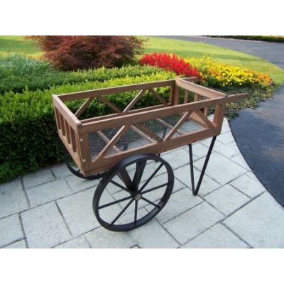 Flower Garden Wagon on wheels - 92008-BK