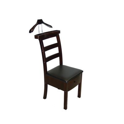 Manhattan Chair Valet in Dark Walnut Finish - VL16654