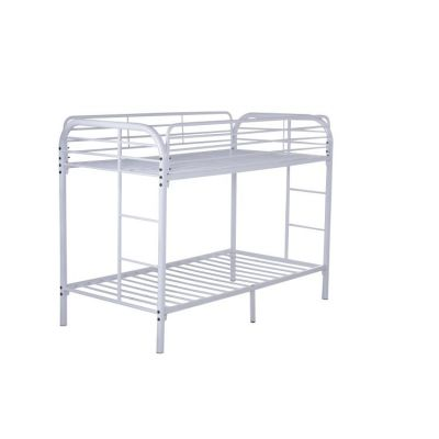 Twin over Twin Metal Bunk Bed in White - G0016-WHITE