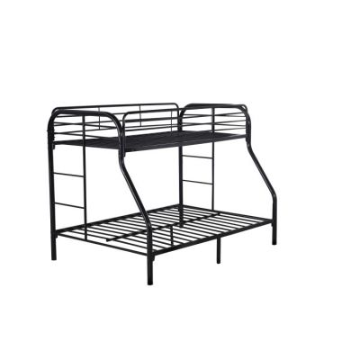 Twin over Full Metal Bunk Bed in Black - G0017-BLACK