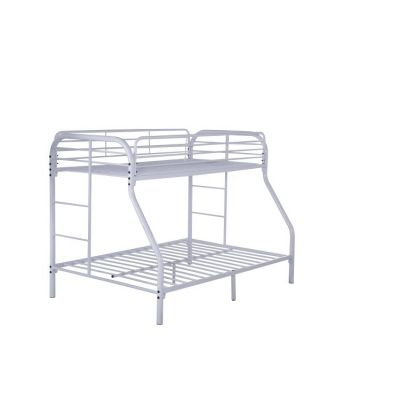 Twin over Full Metal Bunk Bed in White - G0017-WHITE