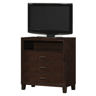 3 Drawer Media Chest in Cappuccino - G1225-TV