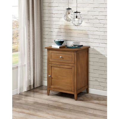 1 Drawer & 1 Door Nightstand in Light Walnut - G1419-N