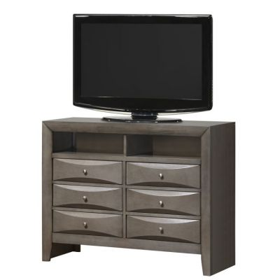 Media Chest in Gray - G1505-TV2