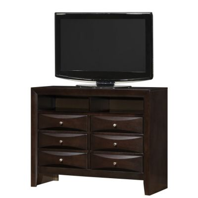 Media Chest in Cappuccino - G1525-TV2