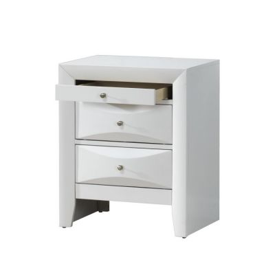 Bob's Nightstand Beveled Drawer Fronts in White - G1570-N