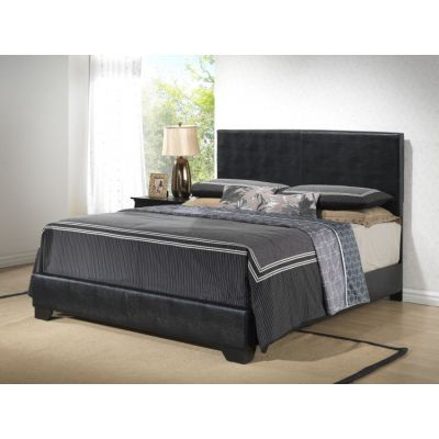 Bob's Leather King Bed in Black - G1850-KB-UP