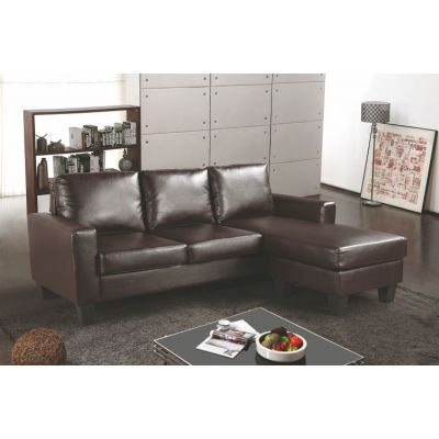 Sectional in Cappuccino Faux Leather - G215-SCH