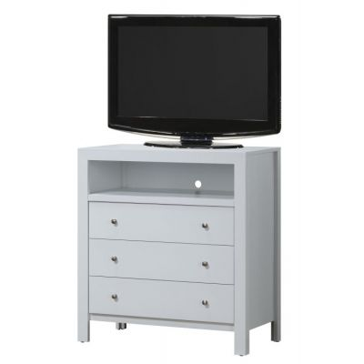 Media Chest in White - G2490-TV