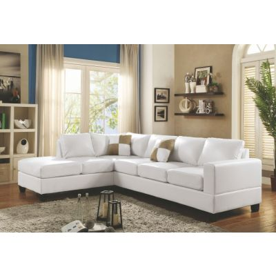 Sectional in White PU - G307B-SC