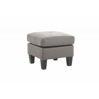 Ottoman in Gray Faux Leather - G461-O