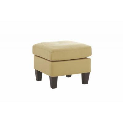 Ottoman in Beige Faux Leather - G462-O