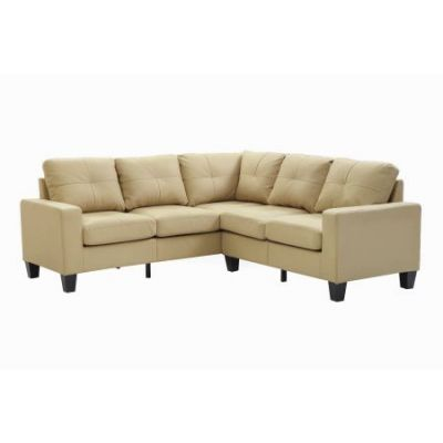 Columbus Sectional Sofa In Beige Faux Leather - G462B-SC