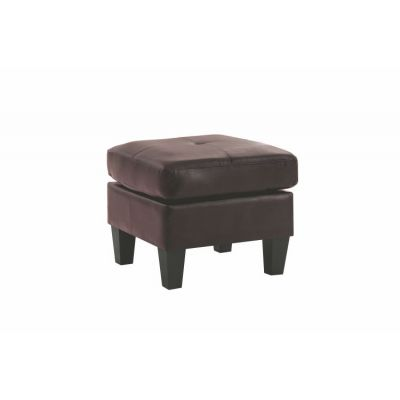 Ottoman in Cappuccino Faux Leather - G464-O