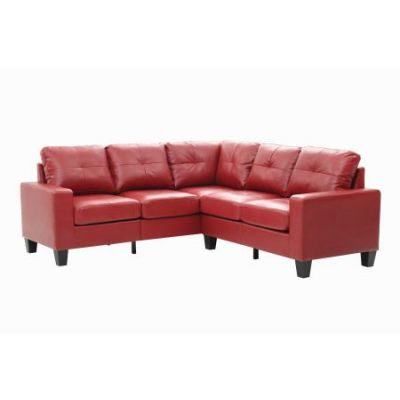 Columbus Sectional Sofa In Red Faux Leather - G465B-SC