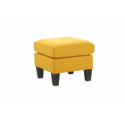 Ottoman in Yellow Fabric - G470-O