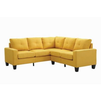 Columbus Sectional Sofa In Yellow Twill Fabric - G470B-SC