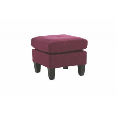 Ottoman in Berry Fabric - G471-O