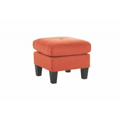 Ottoman in Orange Fabric - G473-O
