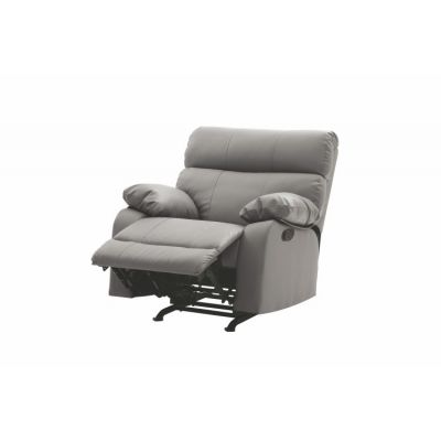 Rocker Recliner In Gray Faux Leather - G531-RC