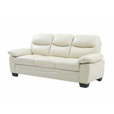 Ashley Sofa in Pearl Faux Leather - G675-S
