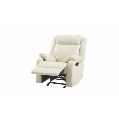 Rocker Recliner in Pearl Faux Leather - G762A-RC