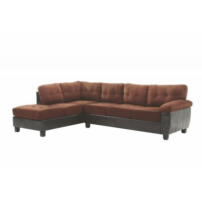 Sectional in Chocolate Suede/Pu - G906B-SC