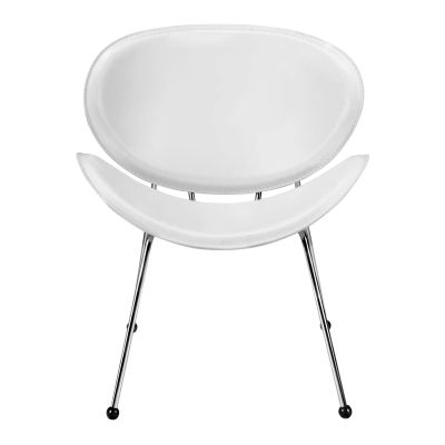 Match Faux Leather Chair in White - 100102