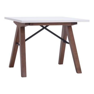 Saints End Table in Walnut & White - 100146
