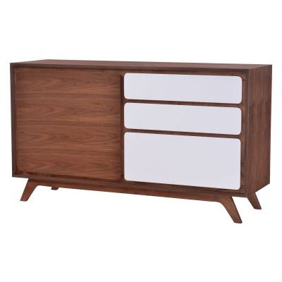 Father Wooden Buffet in Walnut & White - 100153