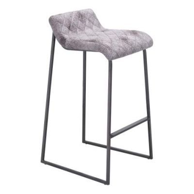 Father 34' Faux Leather Barstool in Vintage White - 100409