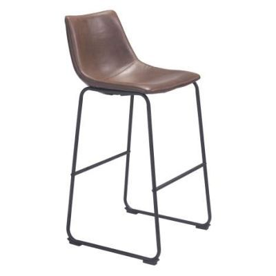Smart 39' Faux Leather Barstool in Vintage Espresso - 100507