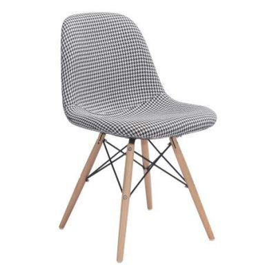 Sappy 31' Linen Dining Chair in Houndstooth - 100510