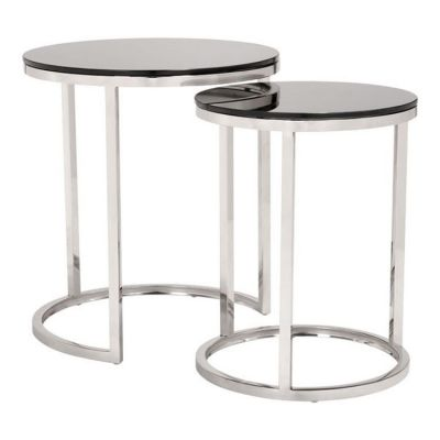 Rem Coffee Table Sets Black & Stainless - 100651