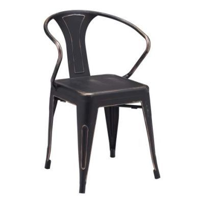 Helix Dining Chair in Antique Black Gold - 108147