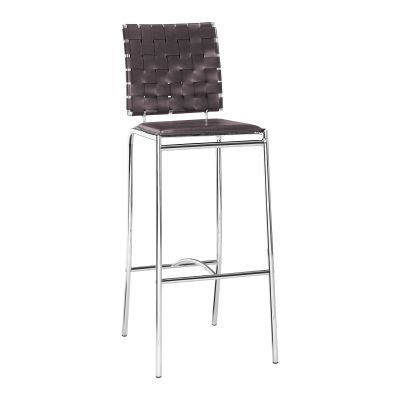 Modern Criss Cross Bar Chair in Espresso - 333070