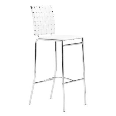Modern Criss Cross Bar Chair in White - 333071