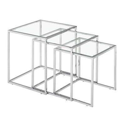 Pasos Nesting Table in Clear - 401105