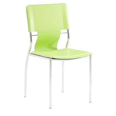 Trafico Dining Chair with Leatherette Seat in Green - 404134