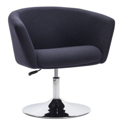 Umea Arm Chair with Chrome Steel Frame in Iron Gray - 500341
