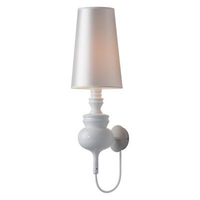 Idea Wall Lamp White with Carbon Steel Finish - 50401